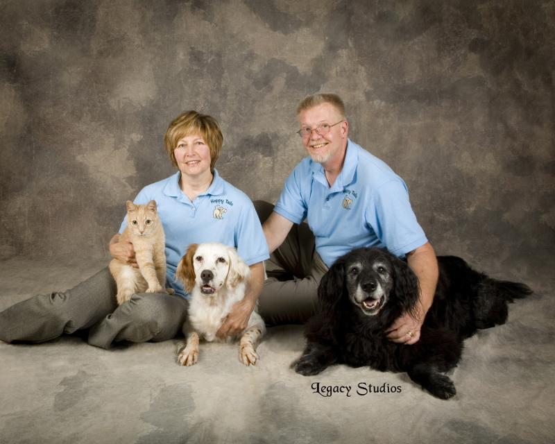 Happy Tails Schmidt Family photo